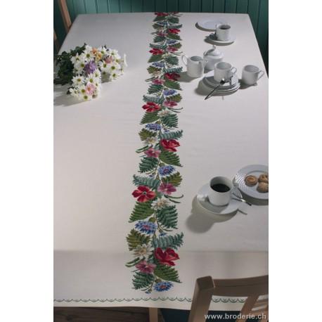 Permin, kit nappe fleurs (PE58-6500)