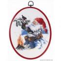 Permin, kit Père-Noël et oiseaux, avec cadre (PE12-5295)