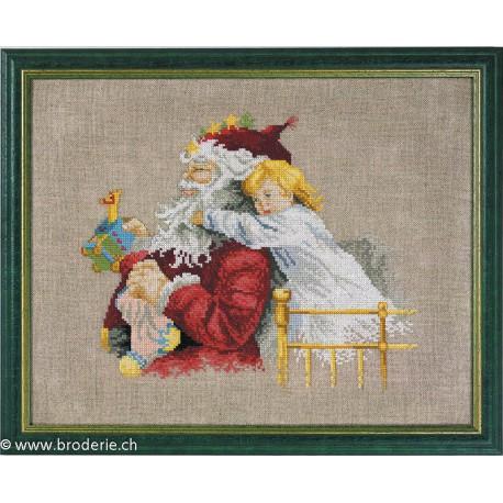 Permin, Kit Père-Noël et petite fille (PE12-0206)