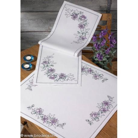 Permin, kit pour nappe fleurs de la passion (PE27-3818)