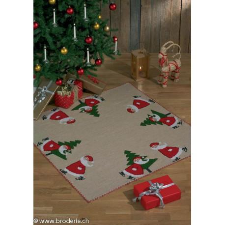 Permin, kit tapis de Noël lutins et sapin (PE45-4252)
