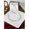 Permin, kit chemin de table imprimé courges et lierre (PE63-8783)
