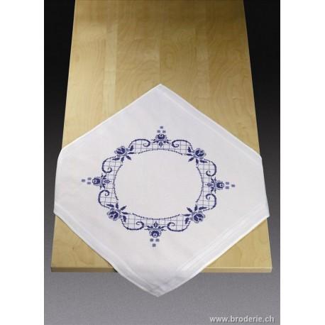 Permin, kit nappe imprimée roses bleues (PE27-4645)
