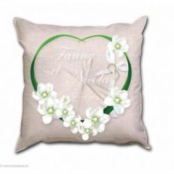 Princesse, kit Coussin mariage fleurs blanches (PR7598)