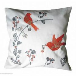 Princesse, kit imprimé coussin oiseaux (PR7537)