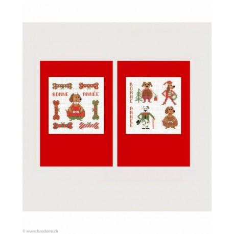 Bonheur des Dames, kit 2 cartes chiens (BD7529)