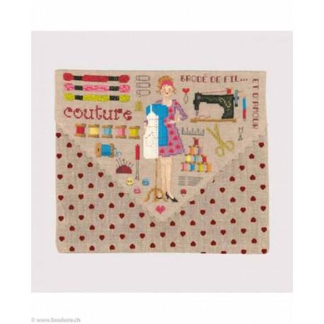 Bonheur des Dames, kit pochette Brodé de fil .... (BD9061)