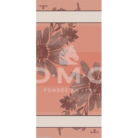 DMC, Chemin de table Flowers, corail (DMC-RS2636-10)