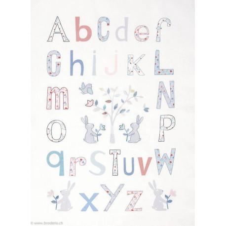 DMC, kit imprimé Alphabet Folk (DMC-TB131)