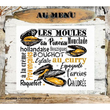 Isabelle Vautier, grille Les Moules (BDN53)