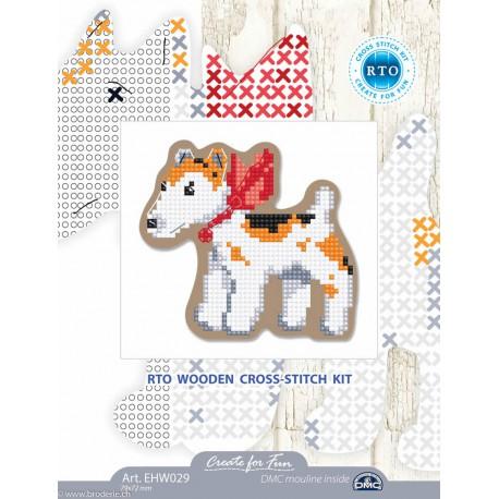 RTO, kit sur bois perforé déco - magnet chien (RTOEHW029)