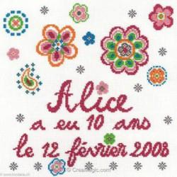 Marie Coeur, kit Anniversaire Alice (MC1982-4466)