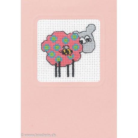 Permin, kit carte de voeux mouton (PE17-4180)