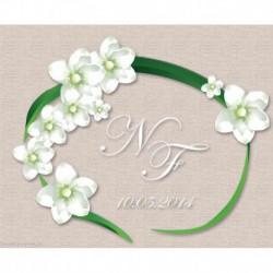 Princesse, kit Tableau mariage fleurs blanches (PR7599)