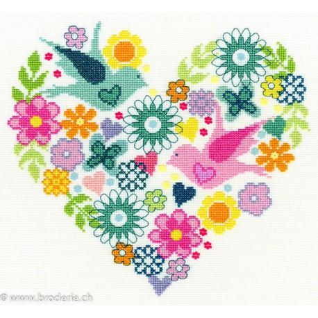 Bothy Threads, kit Heart Bouquet (BOXB1)