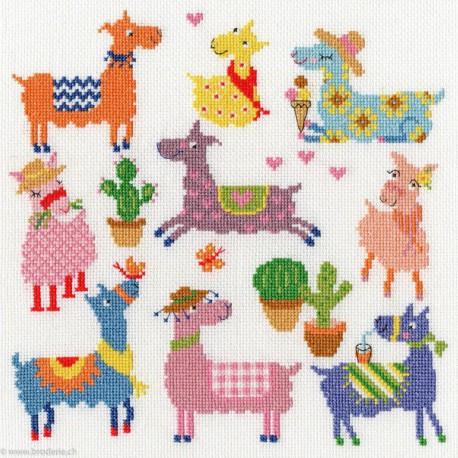 Bothy Threads, kit Slighty Dotty Lamas (BOXEJ8)