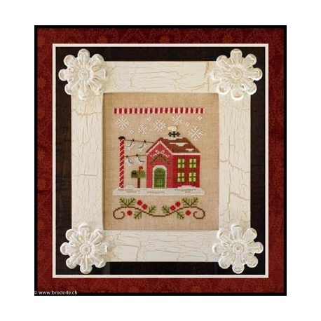 Country Cottage Needleworks, grille North Pole Post Office (CCNSV3)