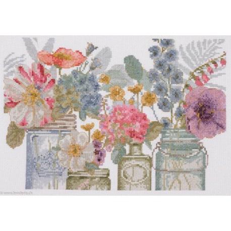 DMC, kit Aquarelle Fleurs en bocaux (DMC-BL1167)