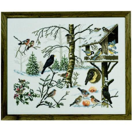 Eva Rosenstand, kit oiseaux en hiver (EV12-651)