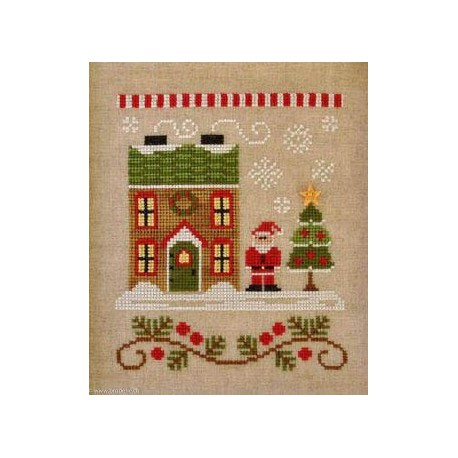 Country Cottage Needleworks, grille Santa's House (CCNSV1)