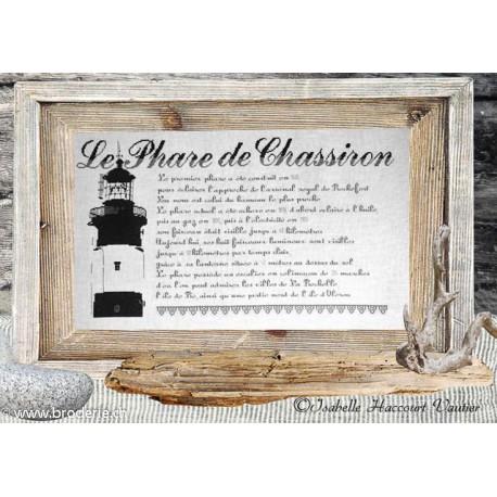 Isabelle Vautier, grille Le phare de Chassiron (ISA16)