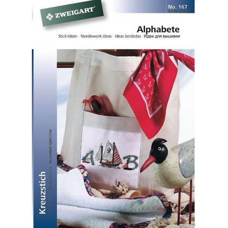 """Zweigart, catalogue de modèles """"Alphabet"""" (102-167)"""