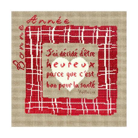 LiliPoints, Grille Noël carré rouge (R003)