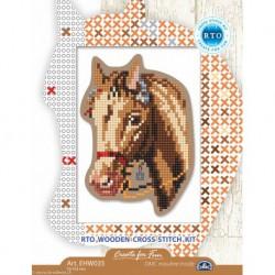 RTO, kit sur bois perforé déco - magnet cheval (RTOEHW035)