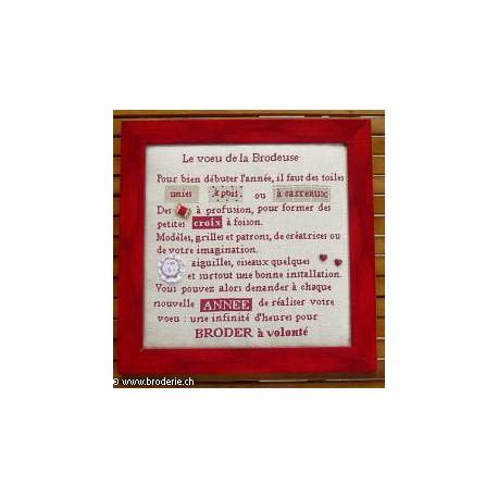 La Cigogne qui brode, grille Le voeu de la brodeuse (DI-16)
