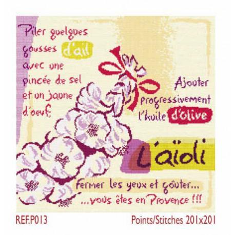 LiliPoints, Grille Provence - L'aïoli (P013)