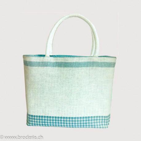 Bonheur des Dames, kit pour sac turquoise et blanc (BD8512)