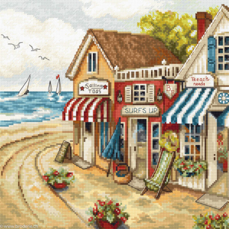 Luca-S Leti Stitch, kit Shops by the Sea (SLETI905)