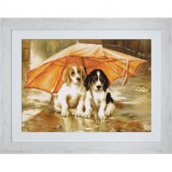 Luca-S, kit canevas petits points Couple under an Umbrella (LUCAG550)
