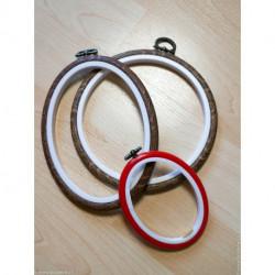 Permin, cadre plastique ovale rouge 7.5 sur 9.5 cm (PE5961)