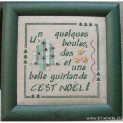 La Cigogne qui brode, grille Noël sapin Kelsch (CIG051)