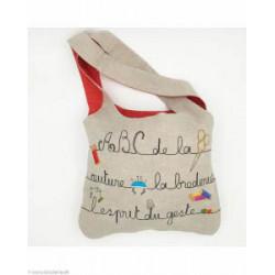 Bonheur des Dames, kit imprimé sac à broder et à coudre ABC broderie (BD2912)