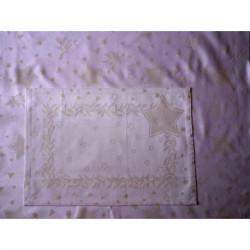 Graziano, Tissu de Noël lamé avec étoiles (TA11642)