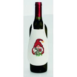 Permin, kit 4 tabliers pour bouteille de vin Lutins (PE78-9554)