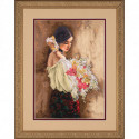 Dimensions Gold, kit Woman with bouquet (DIM35274)