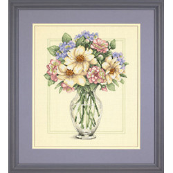 Dimensions, kit Flowers in Tall Vase (DIM35228)