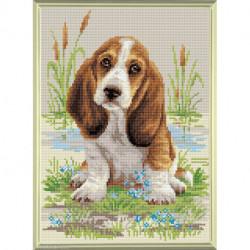 Riolis, kit diamant Basser Hound Puppy (RIAM0005)