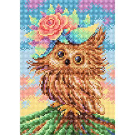 BrilliArt, kit diamant Charming owl (MC-030)