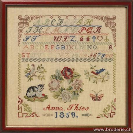 Permin, ABC sampler antique1859 (PE39-5301)