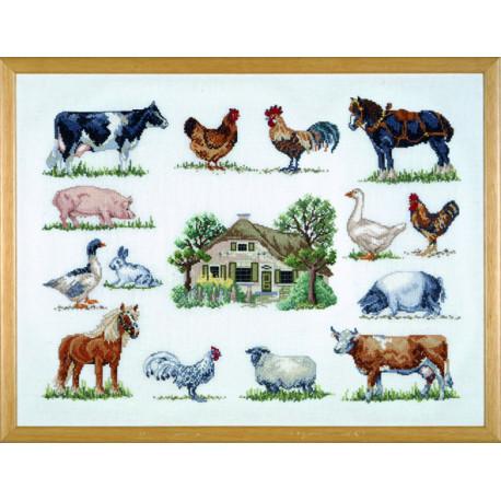 Permin, kit Feme et animaux (PE70-6420)