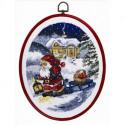 Permin, kit Père-Noël et lanterne, avec cadre (PE12-1265)