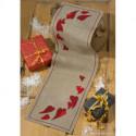 Permin, kit chemin de table Coeurs rouges (PE68-1296)