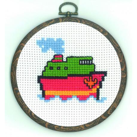 Permin, kit enfant avec cadre - bateau (PE13-0335)