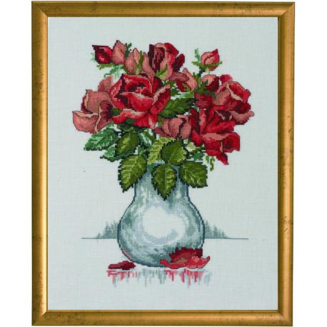 Permin, kit le bouquet de roses en vase (PE70-0308)