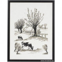 Permin, kit paysage arbres maisons et vaches (PE70-1109)
