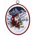 Permin, kit Père-Noël à la pêche, avec cadre (PE12-1264)
